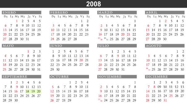 calendario 2008 calendario de bolsillo de upn año 2008 calendarios ...