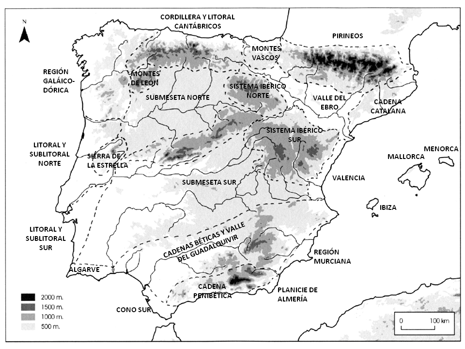 Mapa regiones naturales P. Ibérica. Map of natural regions of Iberian Peninsula {{tabla_general_marzo_2020.xls| Updated Catalogue Iberian Carabidae with species distribution in natural regions.  Catálogo actualizado marzo 2020 con distribución de especies en las regiones naturales de la Península.